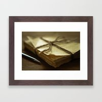 Letters Framed Art Print