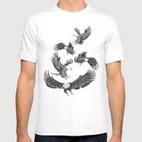 Eagles Pattern Mens Fitted Tee White SMALL