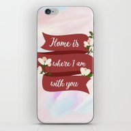 Home Is - In Red iPhone & iPod Skin