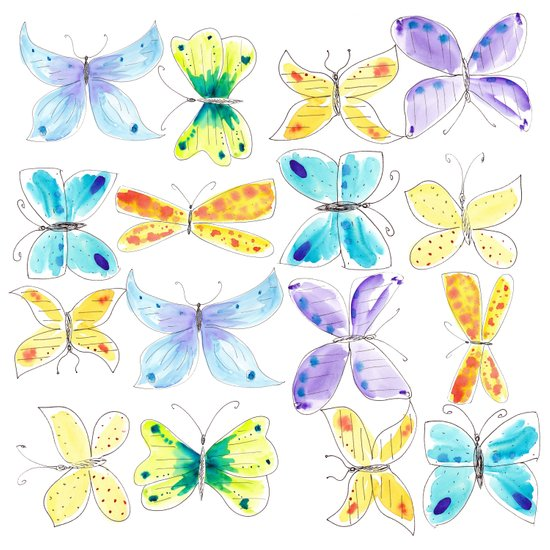 Breezy Butterflies Art Print