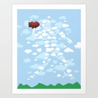 QB Formation Art Print
