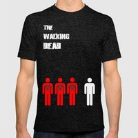 The Walking Dead Minimal… Mens Fitted Tee Tri-Black SMALL