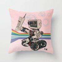 1980s Corporate Robot Throw Pillow