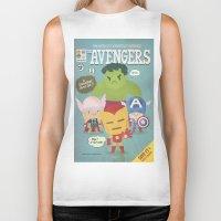 Avengers Fan Art Biker Tank