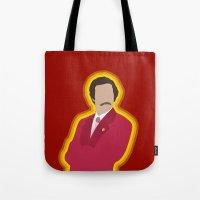 Ron Burgundy: Anchorman Tote Bag