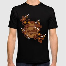 Life is the Flower for which love is the honey Black SMALL Mens Fitted Tee