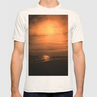 Great Moon Seascape Mens Fitted Tee Natural SMALL