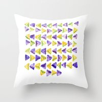 Triangle Relationship (I) Throw Pillow