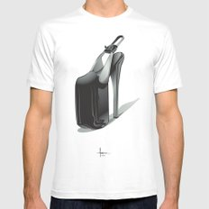 SLAVE to FASHION Mens Fitted Tee SMALL White