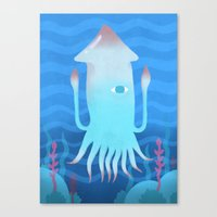 Giant Squid Canvas Print
