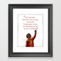 Positive Attitude Framed Art Print