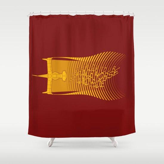 Space Horse (Spikes Horse)Bebop)Cowboy)Swordfish) Shower Curtain
