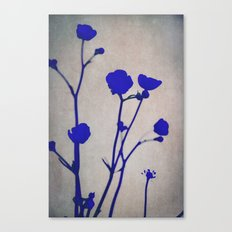 blue silhouettes Canvas Print