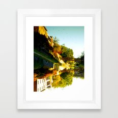 Reflections In The Water Framed Art Print