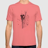 Dancer*** Mens Fitted Tee Pomegranate SMALL