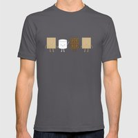 Life is S'more Fun Together Mens Fitted Tee Asphalt SMALL