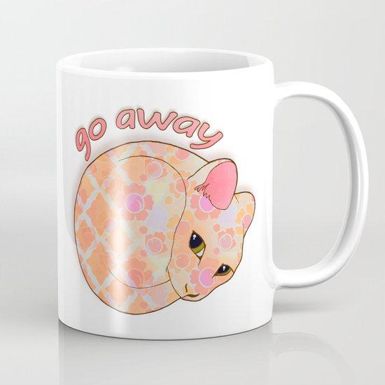 Go Away - Patterned Cat Illustration  Mug