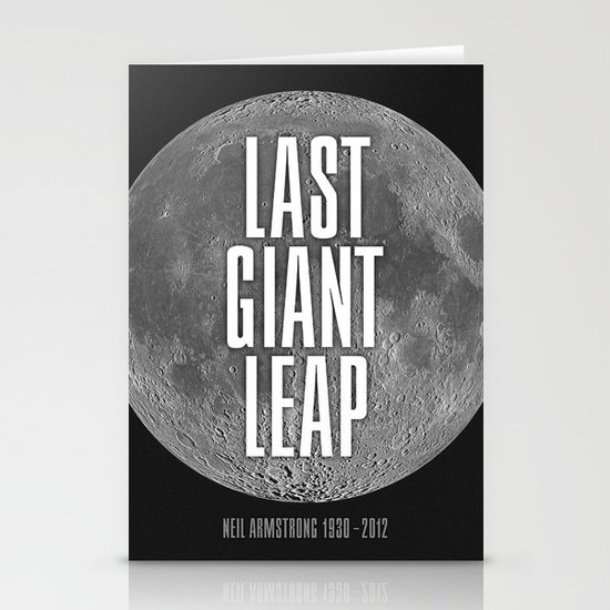 Last Giant Leap Stationery Card