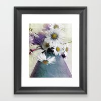Daisies And Buttercups -… Framed Art Print
