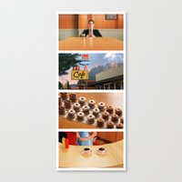 Coffee and donuts time Canvas Print