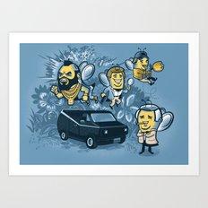 Bee Team 2 Art Print