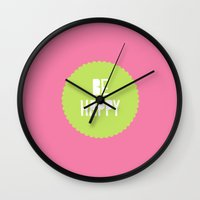 Be Happy  Wall Clock