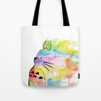 My Rainbow Totoro Tote Bag