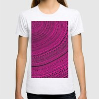 Hot Pink Pulse O4. Womens Fitted Tee Ash Grey SMALL