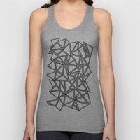 Abstract New Black on White Unisex Tank Top