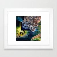 Literary Octopus Framed Art Print