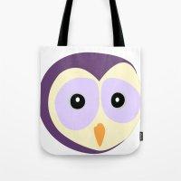Owl Indigo Tote Bag