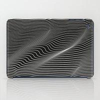 Minimal curves black iPad Case