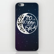 I LOVE YOU To The MOON A… iPhone & iPod Skin