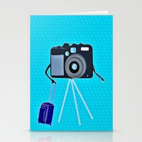 Camera on a photographic trip Stationery Cards