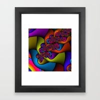 Braided Rainbow Framed Art Print