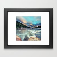 Lenticular Riverscape Framed Art Print