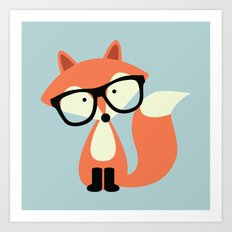 Hipster Red Fox Art Print