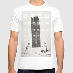 Exam White SMALL Mens Fitted Tee