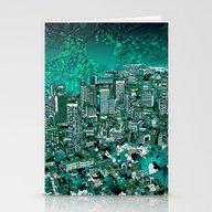 Boston City Skyline Stationery Cards