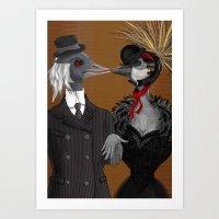 Demoiselle Crane And Gre… Art Print