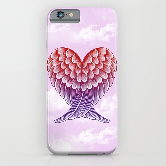 Heart Wings [Pink Version] iPhone & iPod Case