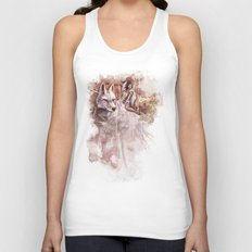 Miyazaki's Mononoke Hime - San and the Wolf TraDigital Painting Unisex Tank Top