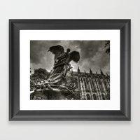 Angel With A Sword Framed Art Print