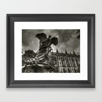 Angel With A Sword Framed Art Print