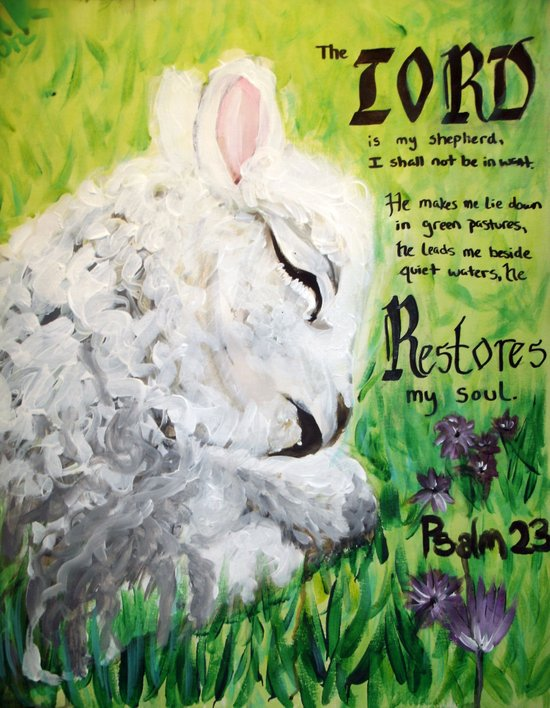 The Lord Restores Psalm 23 Art Print