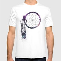 Dream On Mens Fitted Tee White SMALL