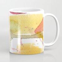 watercolour floral abstract Mug
