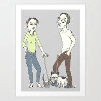 Do you remember when we met? Art Print