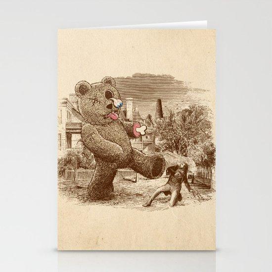 Teddy's Back! Stationery Card