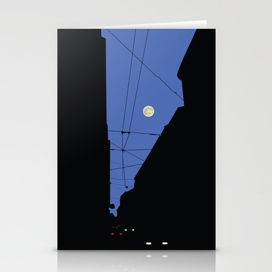 Moon lines Stationery Card